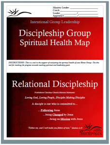 Discipleship Group – Spiritual Health Map