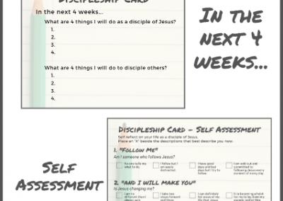 Discipleship Cards: 4x4x4 Discipleship Tool & Self Assessment