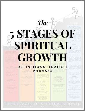 DISCIPLESHIP PROCESS – THE 5 STAGES OF SPIRITUAL GROWTH – diagram