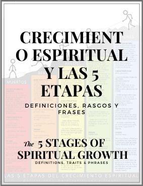 SPANISH / ESPAÑOL – DISCIPLESHIP PROCESS – THE 5 STAGES OF SPIRITUAL GROWTH – diagram