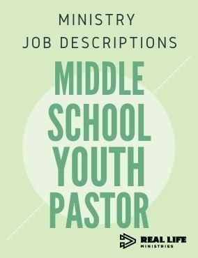Ministry Job Description – Middle School Youth Pastor